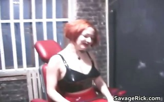 wicked redhead female-dom acquires this fellow