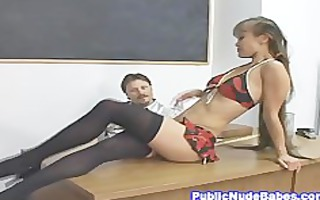 tiny oriental sweetheart class room hard sex