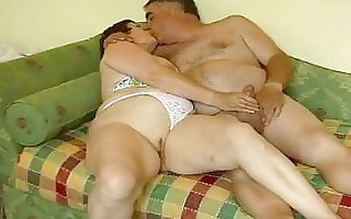 aged exhibitionist pair playing and jerking off