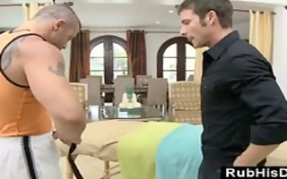 massage at home with homo massage lad longing for