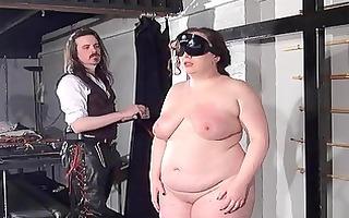 plump bondman thrashing of fat nimue allen in