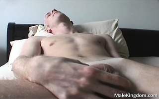 wicked gay is half naked andhe is jerking