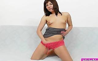leony aprill indecent nylon fetish