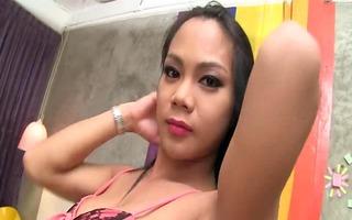 pretty large cock oriental t-girl