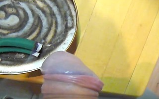 sexy incense smoke on rod