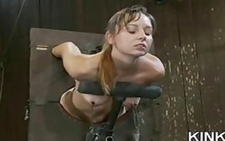 fighting girls receive punished and butt drilled