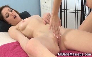 breathtaking masseuse licks slit