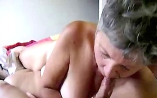 cumming on my old whore !
