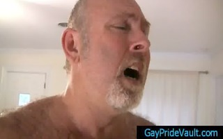 old homo bear fucking much younger stud by