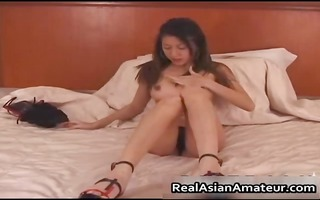 super sexy oriental sweetheart drilling her bushy
