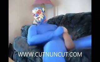 monster uncut cock jerking