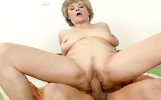 breasty grandma enjoys sex with youthful man