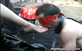outdoor bdsm play where leather dominant-bitch
