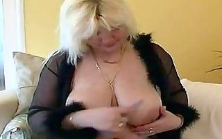 granny with large ass, masturbating her fur pie
