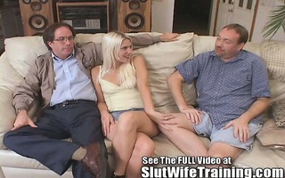 blondie wife copulates 7 whilst hubby watches