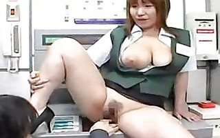 breasty japanese drilled at work
