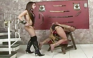 pervert ladyman in crazy domination action