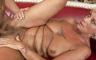 sexy granny enjoys hard sex with a lad