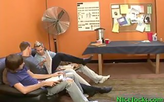 excited pecker in steamy homosexual trio part6