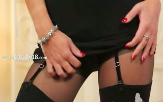 darksome stocking and high heels teasing