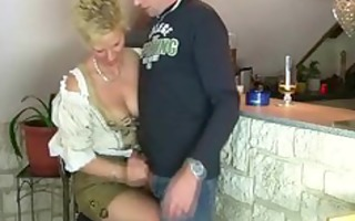 older woman acquires drilled by trio stranger