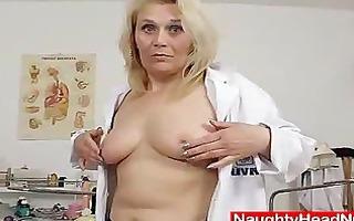 golden-haired curvicious aged nurse