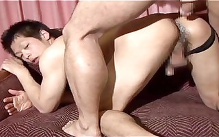he is bangs his oriental butt untill creampie