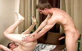 seductive homosexual lad bangs his lovers anal