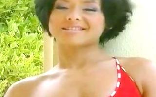 oriental babe pleasures herself