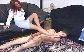take up with the tongue the femdom-goddess legs