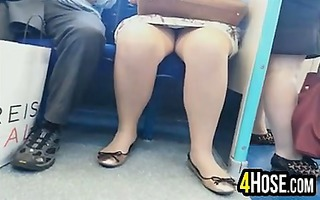 upskirt on the subway