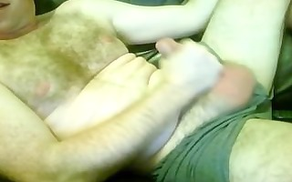 unshaved sexually excited married daddy wanks