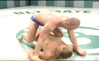 two pumped up guys fight and fuck