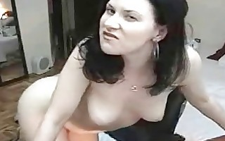 dark brown sweetheart smokin and masturbating on