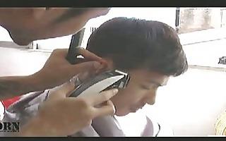 the nastiest oriental homosexual hairdresser