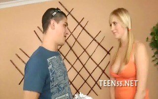 taut legal age teenager twat receives stretched