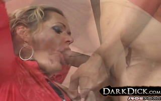 white cougar wife takes on large dark rod