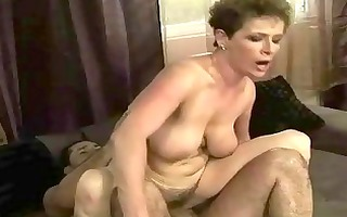 granny acquires her curly moist pussy drilled