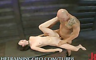 making her engulf and gag on knob