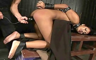 exotic beauty receives bondaged and drilled