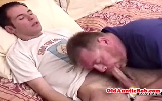 old homo toad engulfing youngers cock