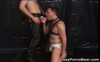 perverted homo scene with studs in leather