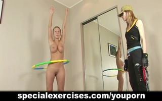 breasty golden-haired tutored by lesbo tutor