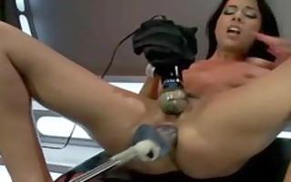 brunette hair tattooed chick with hot ass