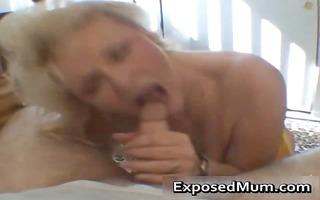 naughty mama shows her juggs and sucks knob part2