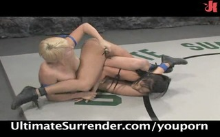 hot cuties & nude wrestling action!