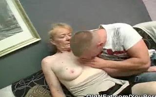 curly cum-hole granny s garb and penis sucks