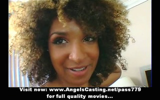 pleasant afro playgirl undressing and doing