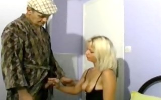 papy fucking a blond with his neighbor