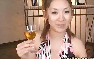 karin tsubaki oriental model acquires threesome